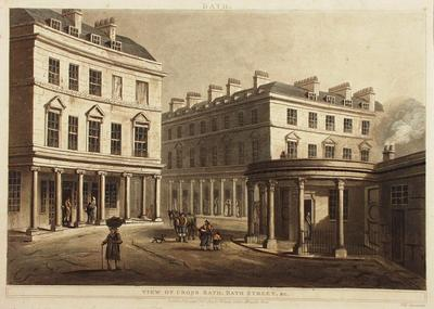 Image: View of Cross Bath & Bath Street, By John Claude Nattes, 1804