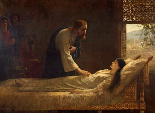 Image: Edwin Longsden Long, The Raising of Jairus' Daughter, 1889