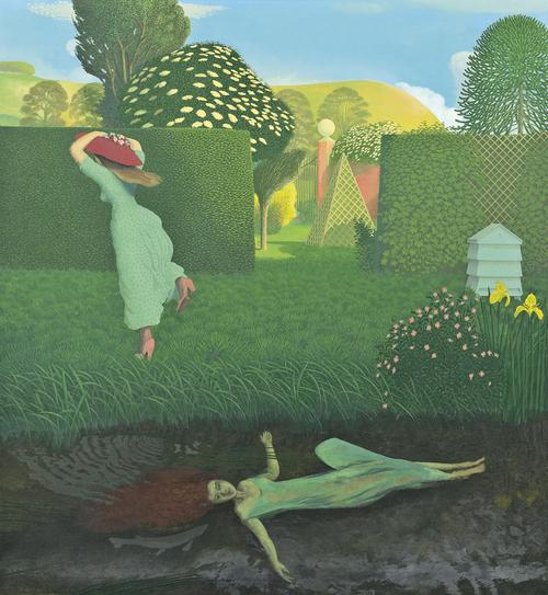 Image: The River Bank (Ophelia), By David Inshaw, 1980