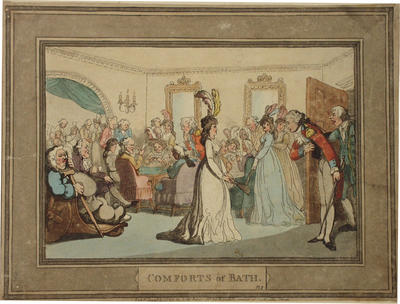 Image: Assembly with Card Players, By Thomas Rowlandson, 1798