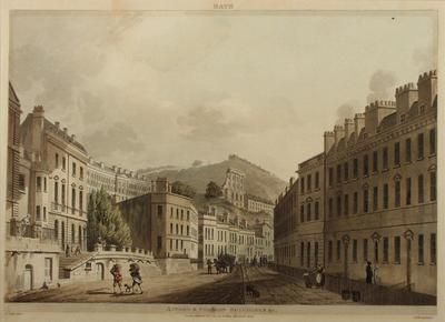 Image: Axford & Paragon Buildings By John Claude Nattes, 1804