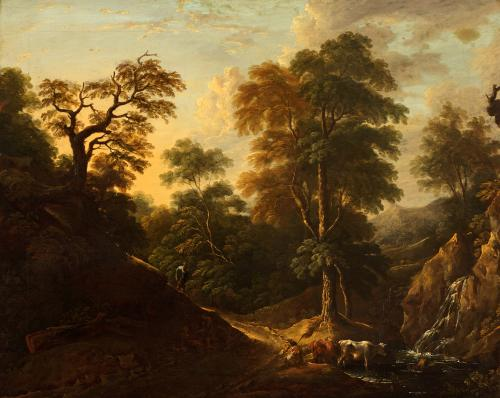 Thomas Barker, Landscape with Figures