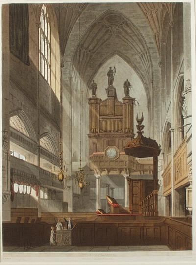 Image: Bath Abbey, By John Claude Nattes, 1805