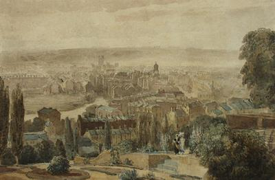 Image: Bath from Beacon Hill, David Cox, around 1815