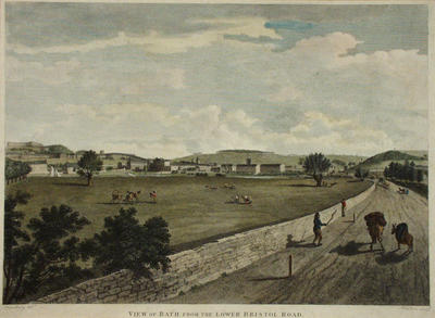 Image: Bath from the Lower Bristol Road By William Spornberg, 1801