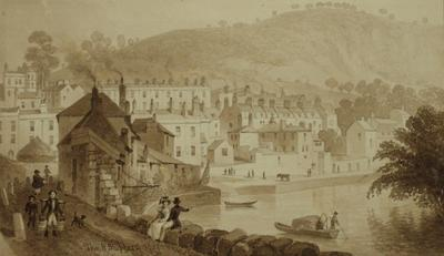 Image: Beechen Cliff, from the Banks of the Avon, By Thomas Hosmer Shepherd, 1829