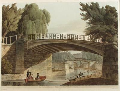 Image: Bridge over the Canal in Sydney Gardens, By John Claude Nattes, 1805