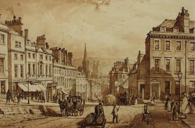 Image: Broad Street from Lansdown Road, By John Syer, around 1840