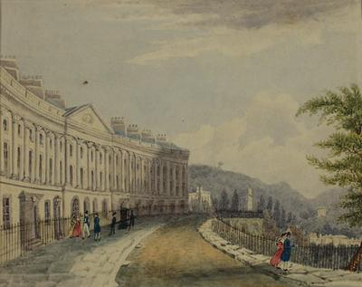 Image: Camden Place, Bath, By Jane Hartshorne, 1829