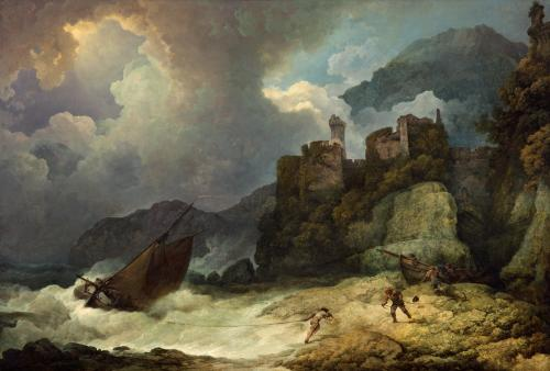Image: De Loutherburg, A Storm with smugglers landing