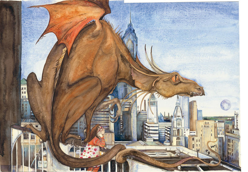 Image: Here be Dragons Snaggle-toothed, fierce and brave, 2008, taken from Tell Me A Dragon, by Jackie Morris