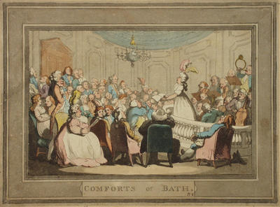 Image: In the Concert Room, By Thomas Rowlandson, 1798