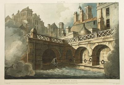 Image: Inside of Queen's Bath, By John Claude Nattes, 1804