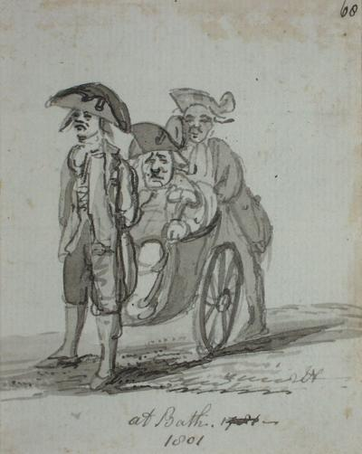 Image: Man in a Wheelchair, By John Nixon, 1801