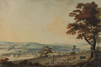 Image: South West view of the city of Bath taken from New Wells Road, By Samuel Alken, 1787