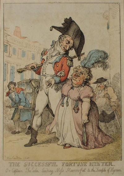 Image: The Successful Fortune Hunter, By Thomas Rowlandson, 1812