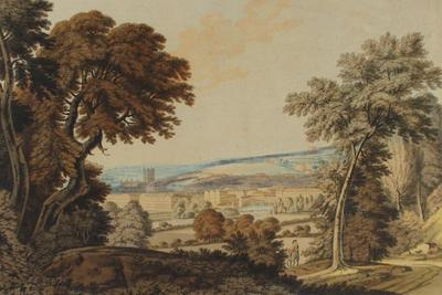 Image: View of Bath taken from Mr Pulteney's road leading to Claverton Down, By Samuel Alken, 1787