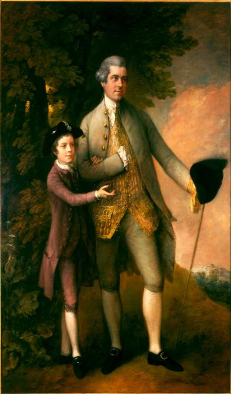 Image: Thomas Gainsborough, Sir Thomas Rumbold and his son William,. c.1770, On loan from a descendant of the sitters
