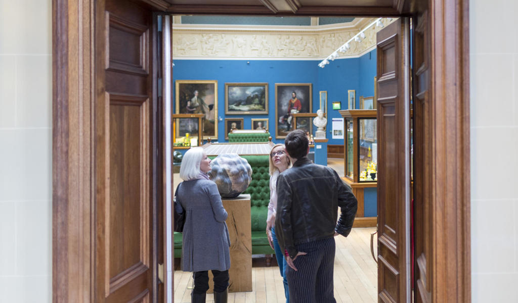 Image: Visitors in the Upper Gallery Credit: Bath Museums/Chris Lacey