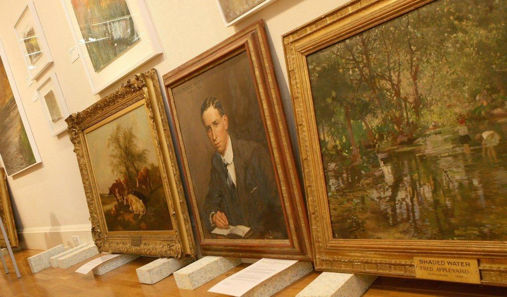 Image: Paintings on display in the Gallery