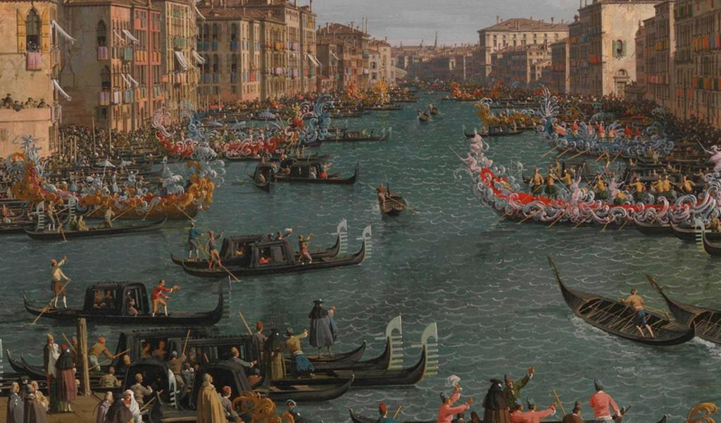 Image: Canaletto, Regatta on the Grand Canal