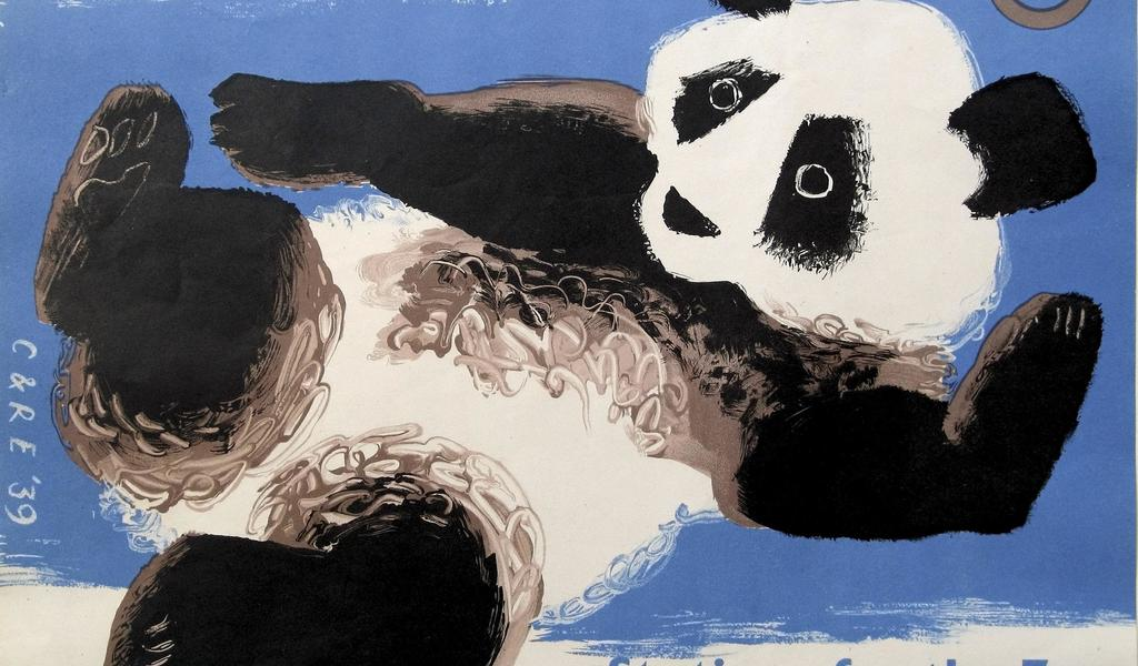Image: Giant Panda, window bill for London Passenger Transport Board, 1939. Clifford and Rosemary Ellis