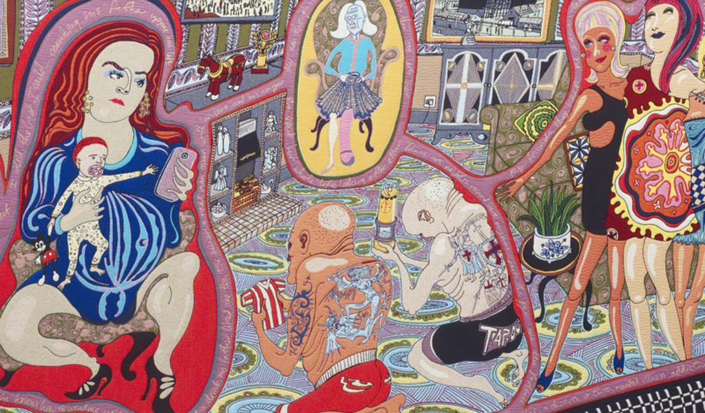 Image: Grayson Perry, The Adoration of the Cage Fighters, 2012 (detail)