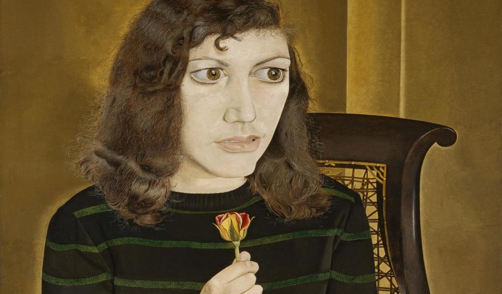 Image: Lucian Freud, Girl with Roses, 1947-8. Credit: British Council, London, UK © The Lucian Freud Archive/Bridgeman Images. Detail.