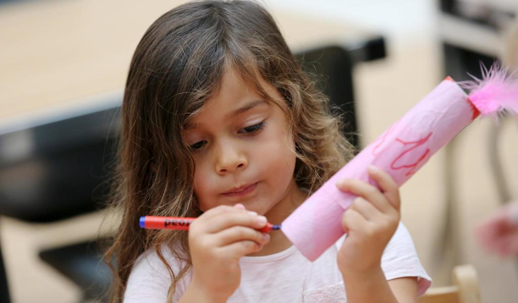 Image: Child at a craft activity