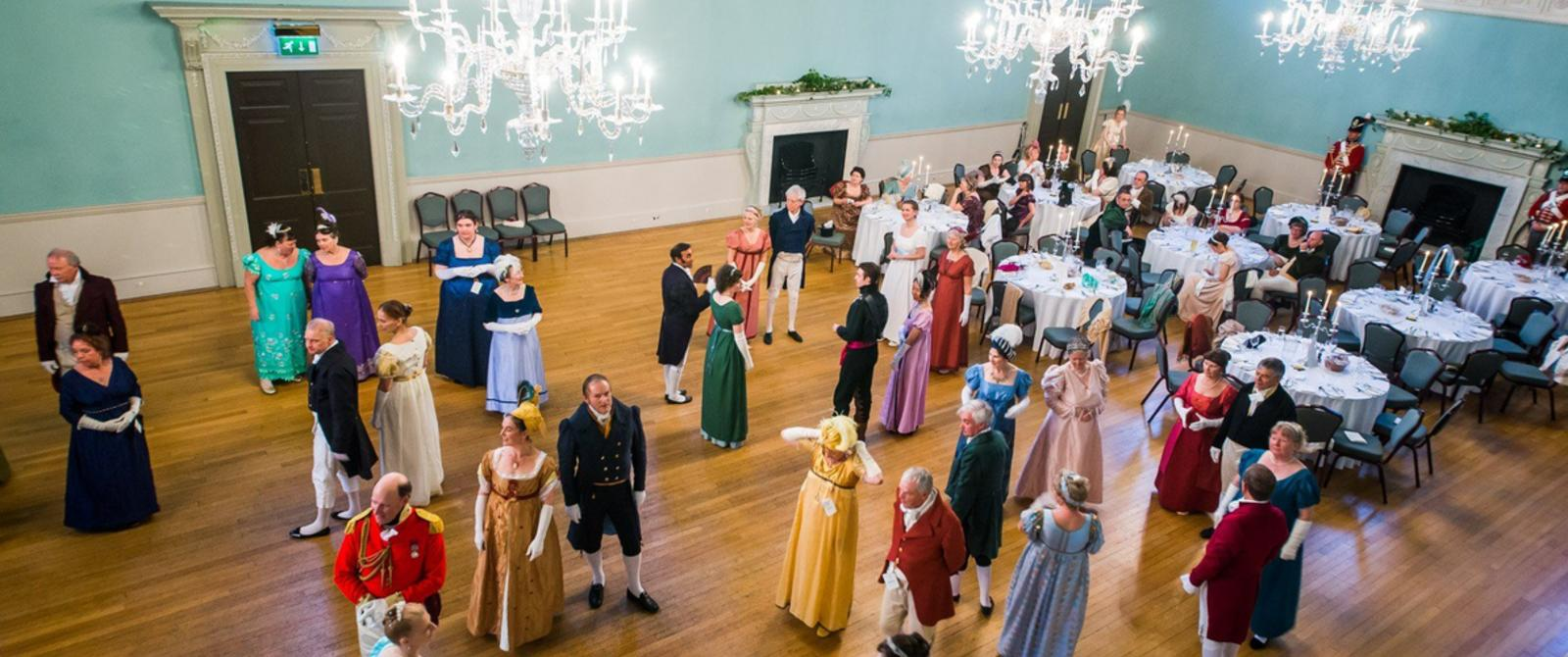 Image: Jane Austen Dancers at the Assembly Rooms