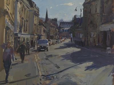 Image: Peter Brown, Walcot Street, Midday, oil on board (detail)