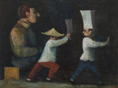 Image: Angry Chinese Chef, oil on canvas, 40 x 50 cm, £2500