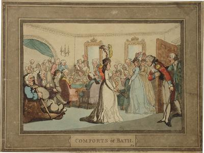 Image:  Assembly with Card Players, Thomas Rowlandson, 1798