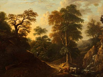 Image: Barker Thomas, 'Landscape with figures', oil on canvas.
