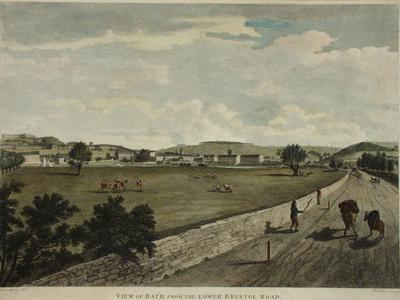Image: Bath from the Lower Bristol Road, William Spornberg, 1801