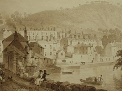 Image: Beechen Cliff, from the banks of the Avon by Thomas Hosmer Shepherd, 1829