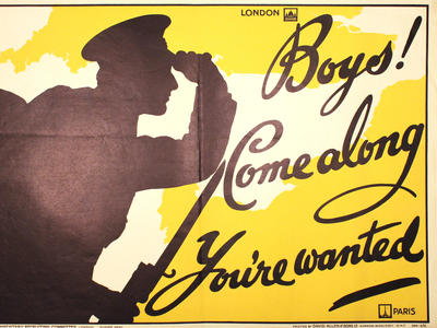 Image: Boys come along you're wanted, 1915