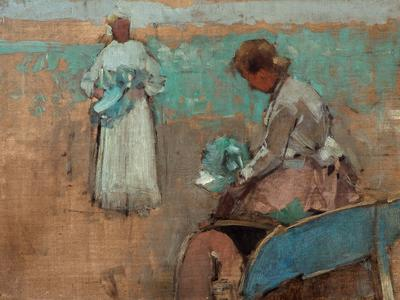Image: Brangwyn Frank William, 'Study and sketch of two figures', oil on canvas, late 19th-mid 20thc.