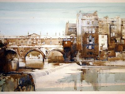 Image: Buckle Claude, 'Pulteney Bridge, Bath Spa', watercolour