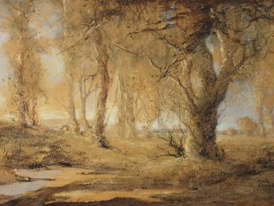Image: Campbell Nesta Jennings, 'Glade near Camelot', pastel and gouache, 20th century