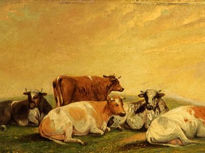Image: Cooper Thomas Sidney, 'Cattle', oil on canvas, 19th century