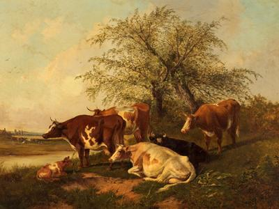 Image: Cooper Thomas Sidney, 'Cows', oil on canvas, 1878