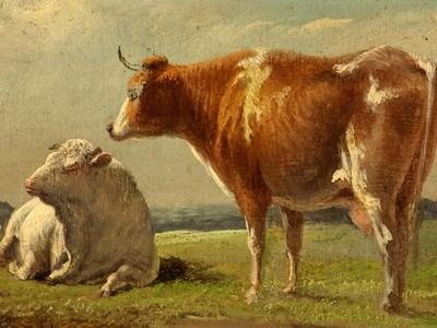 Image: Cooper Thomas Sidney, 'Cows', oil on canvas, 19th century
