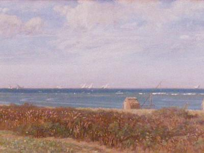 Image: Costa Giovanni, 'Coastal scene, Italy', oil on panel, late 19th century