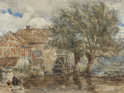 Image: Cox David, 'The Mill', charcoal and watercolour, 1852