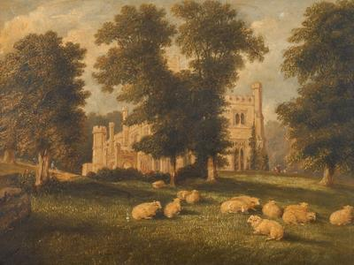 Image: Dellamotte William, 'Warleigh House near Bath', oil on board, 1858