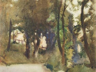 Image: Dobson Frank, 'Woodland scene', watercolour, 1911