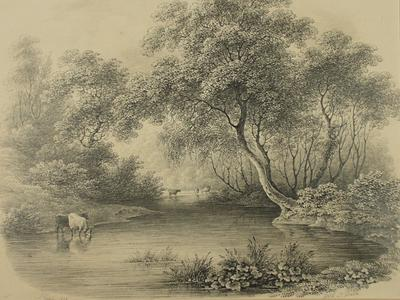 Image: Gibbs James Steinhamer, 'Wick near Bath', drawing, 1836. Adopted by Mr & Mrs Moore