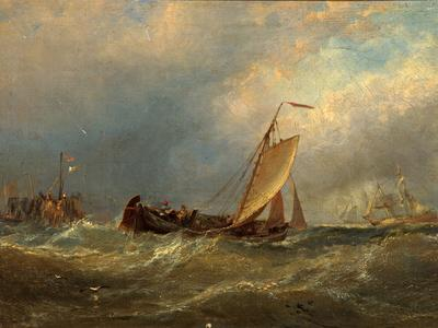 Image: Hayes Edwin, 'Leaving the harbour', oil on canvas, 1867