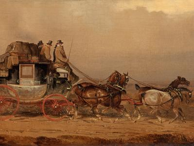 Image: Henderson Charles Cooper, 'The Bristol to London Coach', oil on canvas, mid 19th century. Adopted by Tim Bullamore